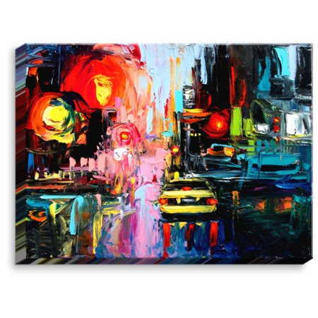 DiaNoche Designs Faces of the City cxvi' by Aja Ann Painting on Wrapped Canvas - Ideas Of Face Painting