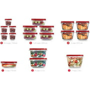 Rubbermaid Easy Find Lids Food Storage Container, 36-Piece Set, Red