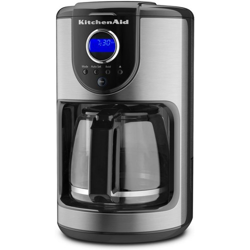 KitchenAid 12-Cup Glass Carafe Coffee Maker, Onyx Black (KCM111OB)