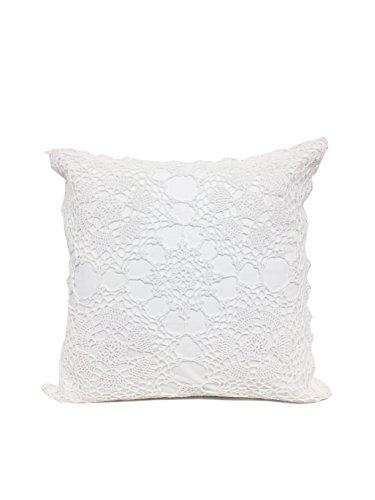 Fennco Styles Handmade Floral Design Crochet Lace Decorative Throw Pillow Sham 100% Cotton... by Fennco Styles