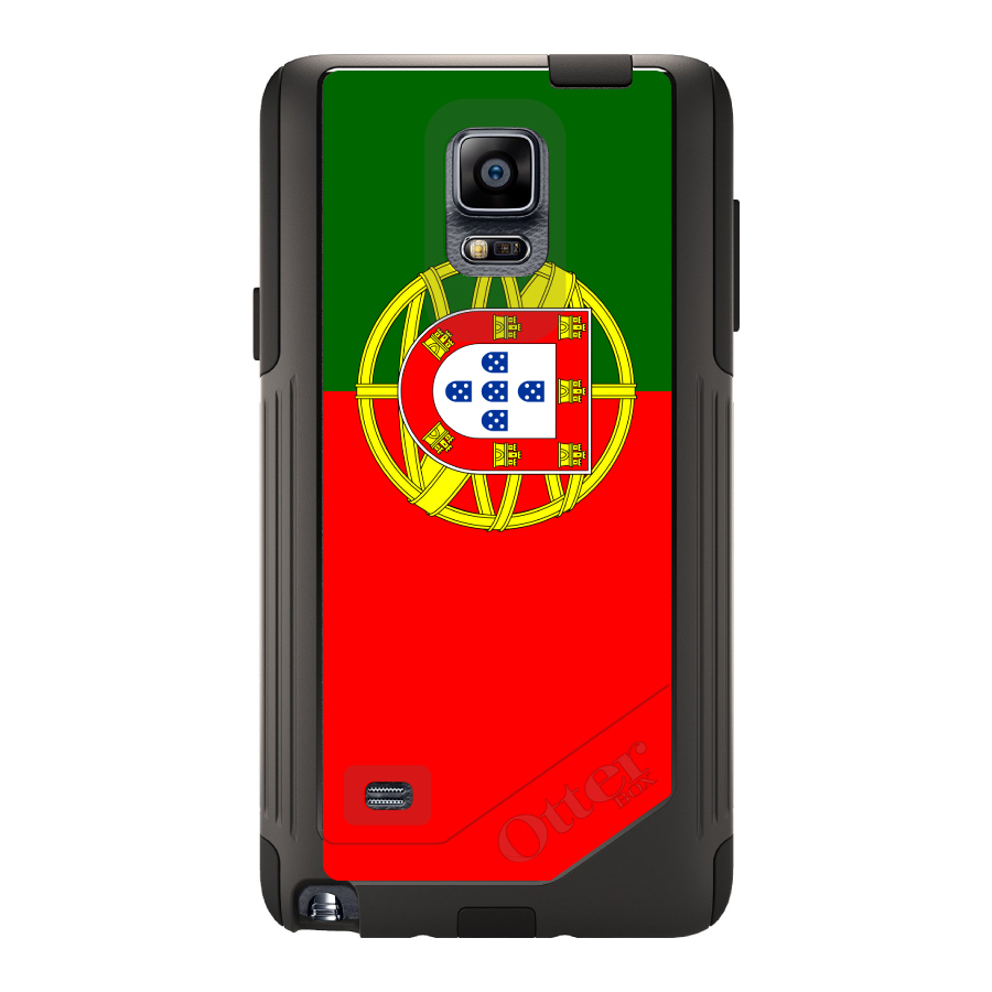 CUSTOM Black OtterBox Commuter Series Case for Samsung Galaxy Note 4 Portugal...