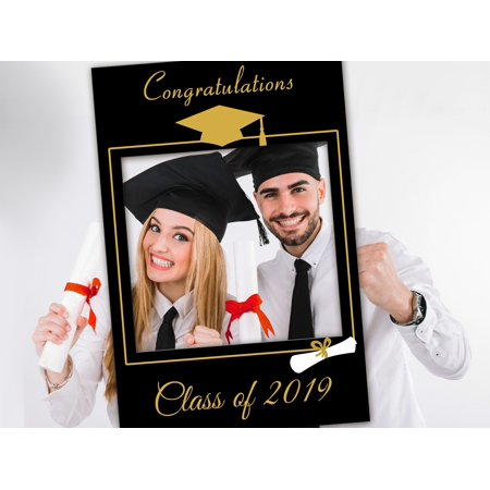 Graduation Photobooth, Class of 2019 Selfie frame, Grads Poster photo booth prop frame, Selfie Frame for Class of 2019 picture Frame Sizes 36x24, Graduation hat Selfie prop, photo prop