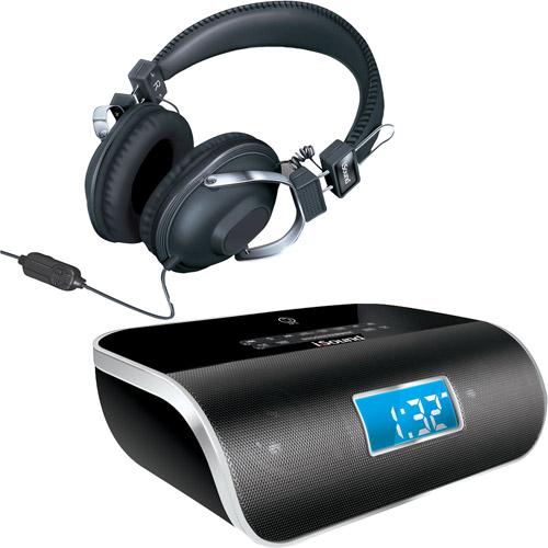 Isound Dreamtime Pro Alarm Clock Radio With Stereo Headphones