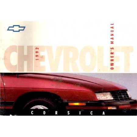 Bishko OEM Maintenance Owner's Manual Bound for Chevrolet Corsica 1992 1992 Chevrolet Corsica Walker