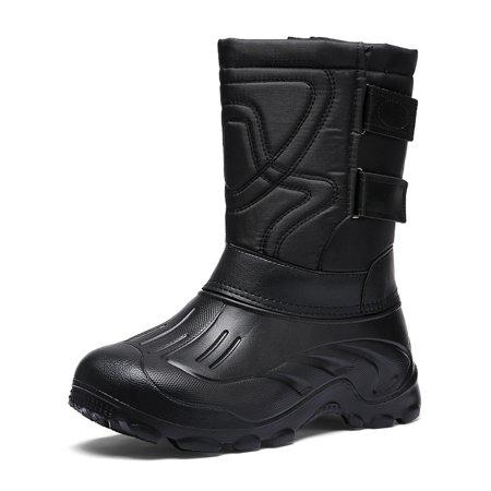 OwnShoe Men's Snow Boot Warm Fur Lined Booties Waterproof Outdoor Shoes