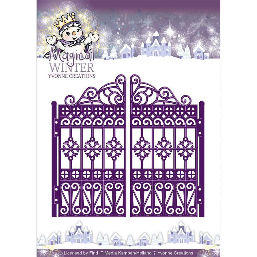 Find It Trading Yvonne Creations Magical Winter Die, Gate