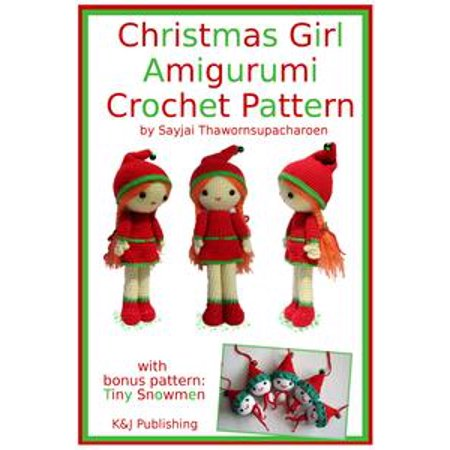 Christmas Girl Amigurumi Crochet Pattern - eBook