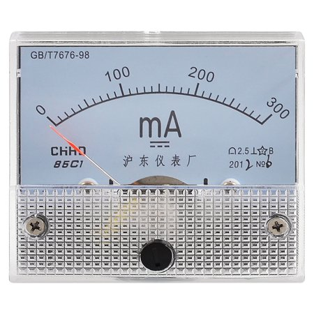Class 2.5 Accuracy Analog DC Milliampere Milliamp Meter Panel 0-300MA
