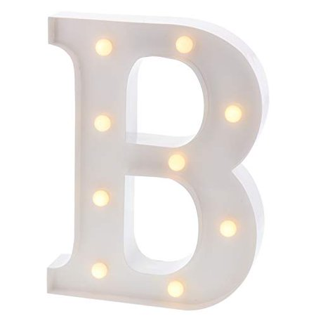 Barnyard Designs Metal Marquee Letter B Light Up Wall Initial Wedding, Bar, Home and Nursery Letter Decoration 12