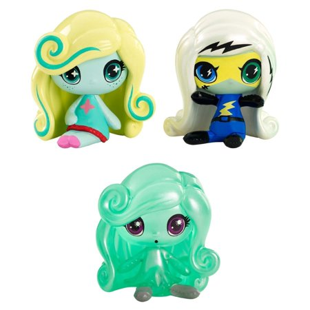 Minis Power Ghouls Frankie Stein, an Original Ghouls Lagoona Blue and a Getting Ghostly Twyla Figures, 3 Pack..., By Monster High Ship from US](Frankie Stein Cartoon)