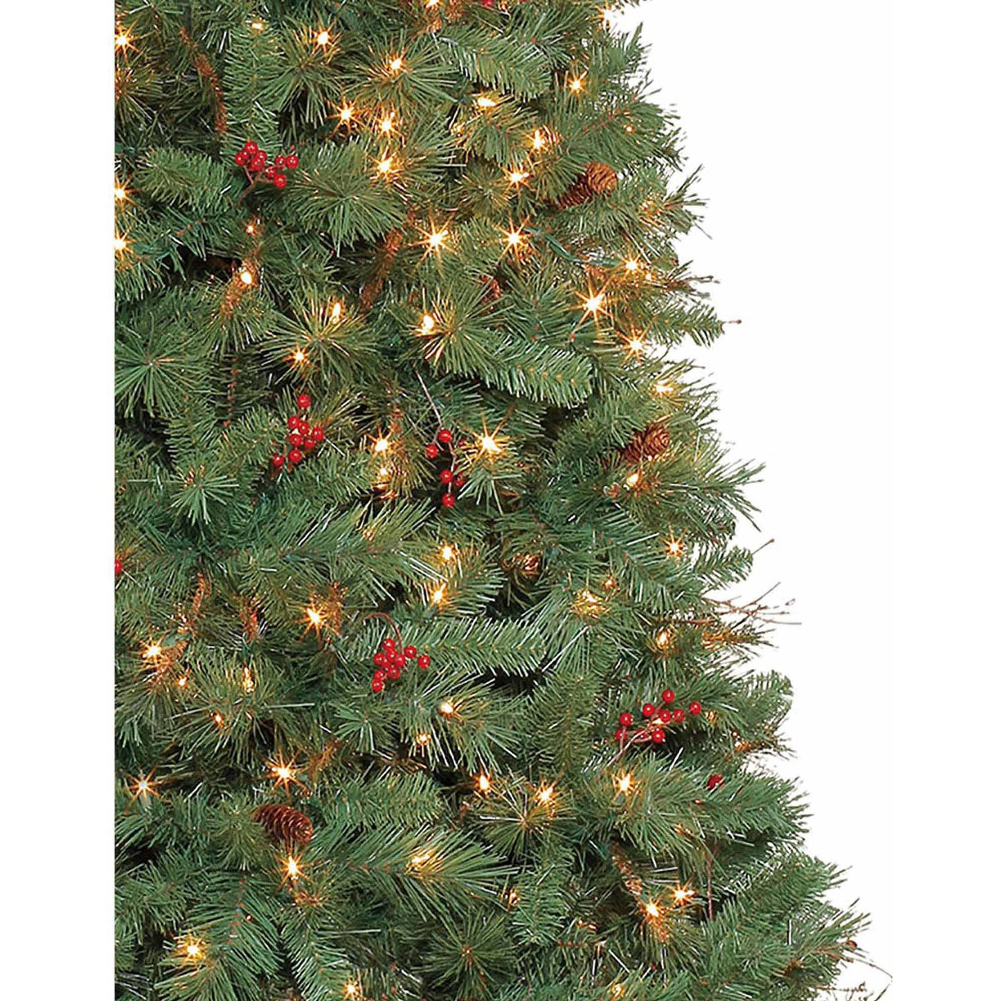 Artificial Christmas Tree Pre-Lit 7.5' Hammond Pine, Clear Lights ...