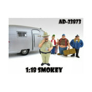 Smokey Trailer Park Figure For 1:18 Scale Diecast Model Cars by American Diorama