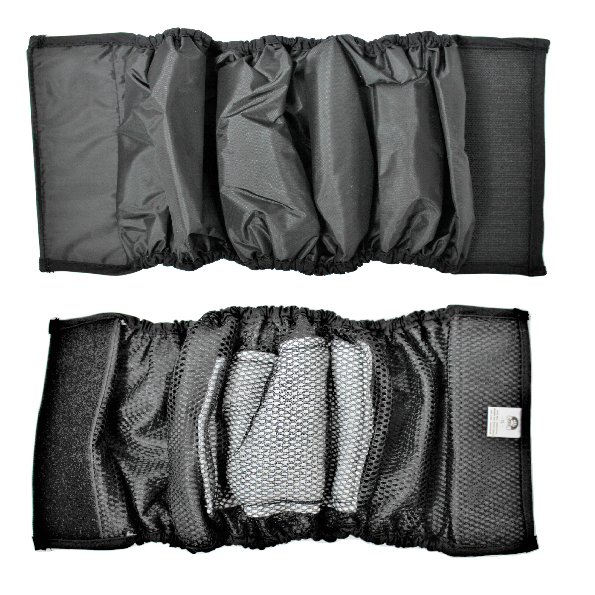 """PACK – 2pcs WATERPROOF Diapers Dog Belly Band WITH ABSORBENT Pad Male Wrap Reusable Black sz XXS (waist 6"""" - 8"""")"""