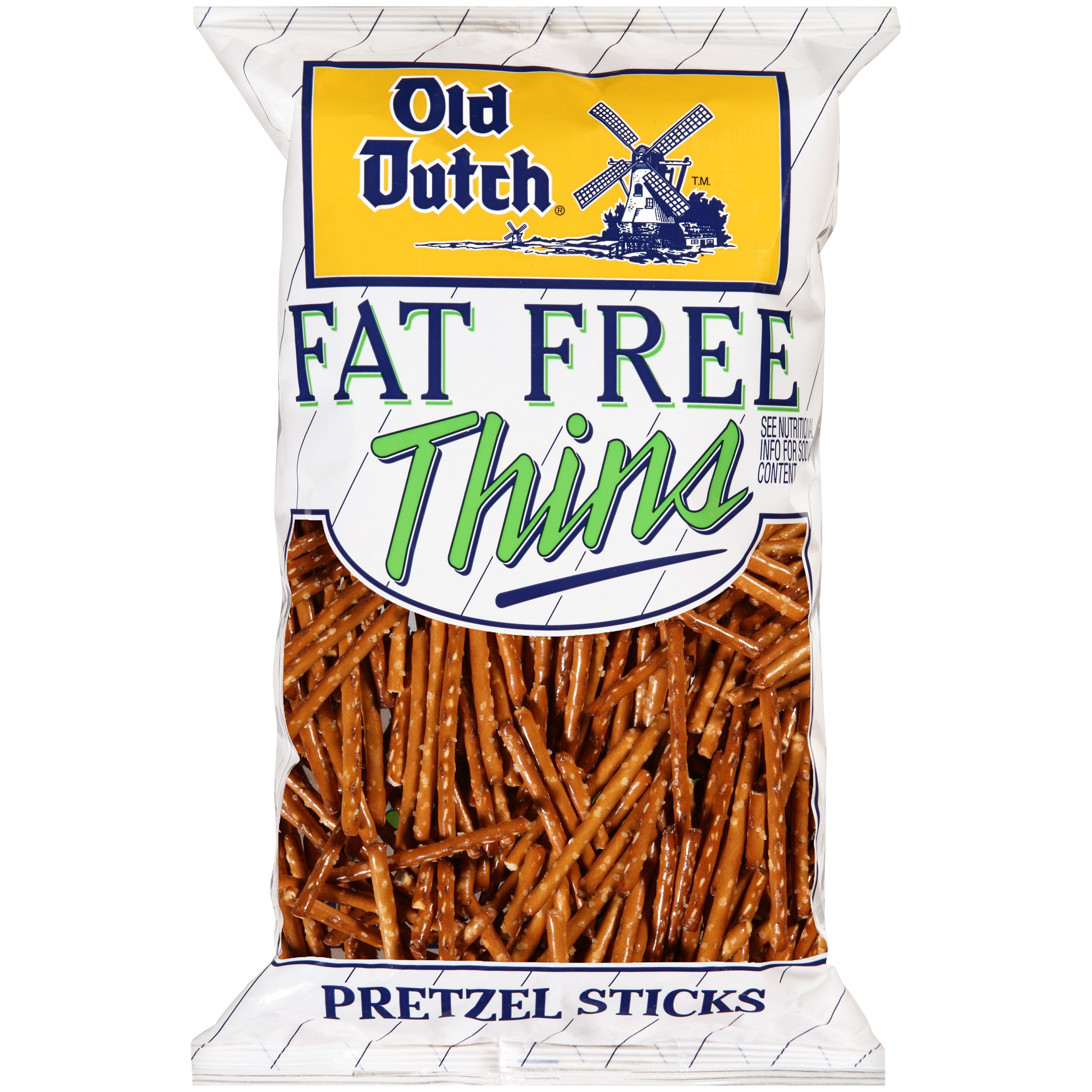 Old Dutch Fat Free Pretzel Sticks 15 oz. Bag