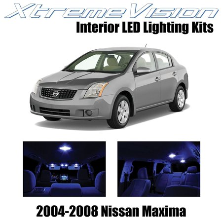 Xtremevision Led For Nissan Maxima 2004 2008 18 Pieces Blue Premium Interior Kit Package Installation Tool