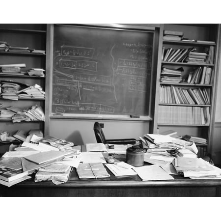 Laminated Poster Albert Einstein'S Desk The Day He Died Art S Artwork Poster Print 24 x 36