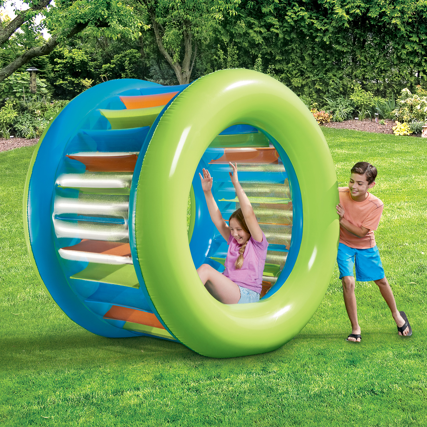 2dfb990b Play Day Giant Inflatable Roller Wheel Float