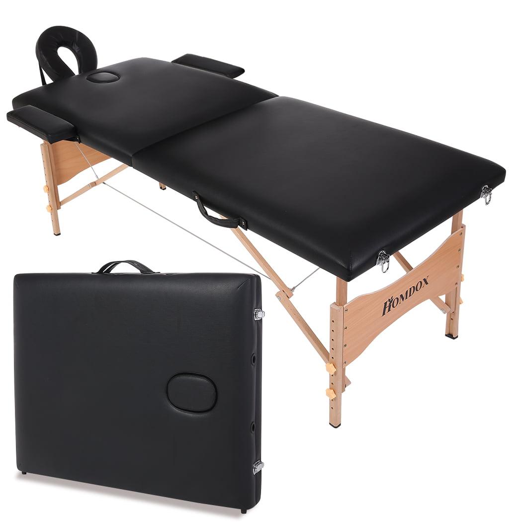 Homdox Massage Table ,Black Floding Portable