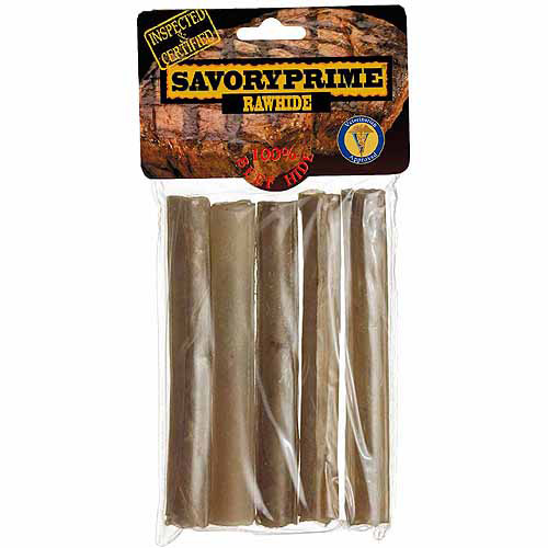 "Savory Prime Pressed Roll Dog Chews, 5"", 5-Count"
