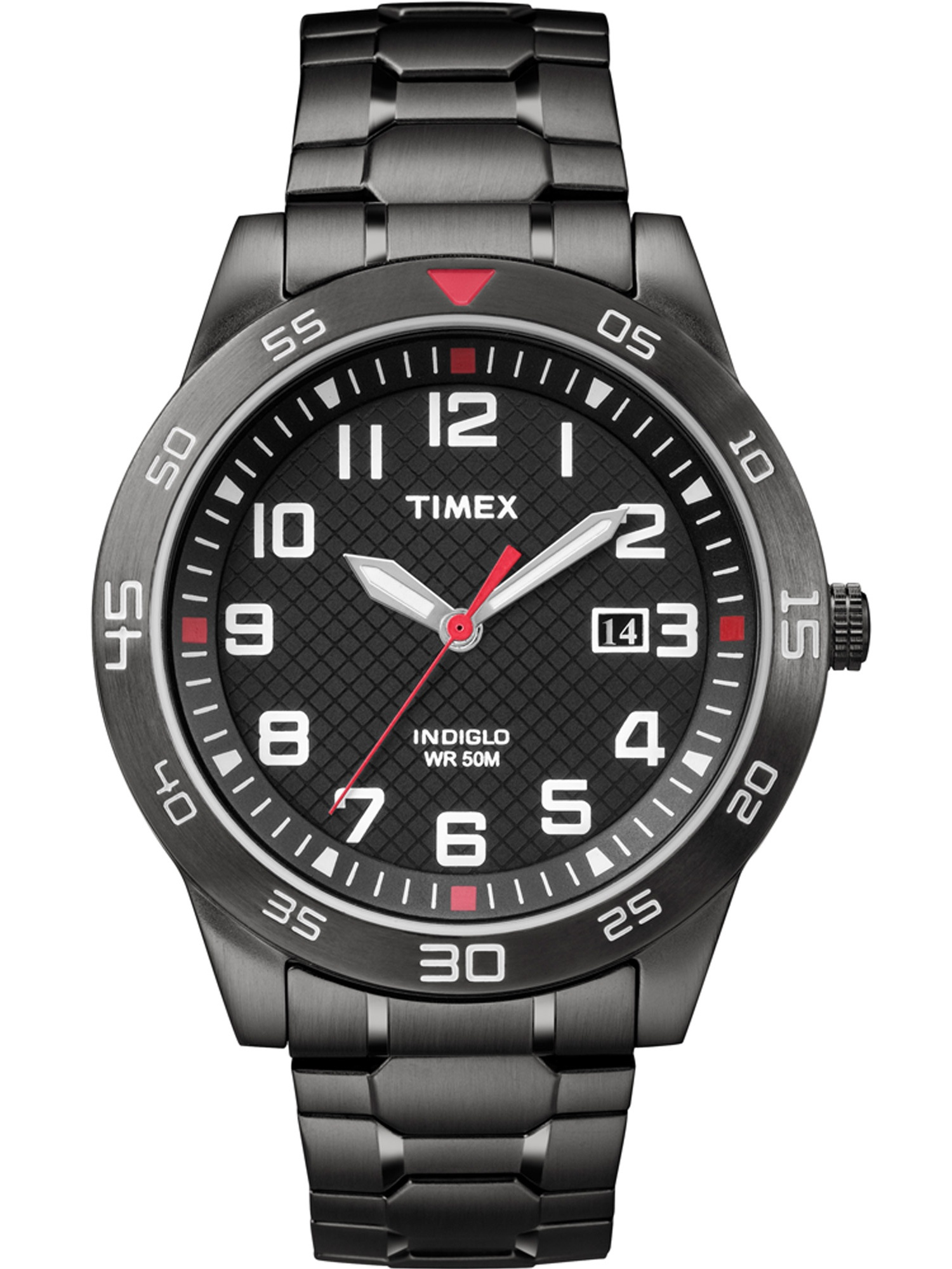 Timex Men's Fieldstone Way Watch, Black Stainless Steel Expansion Band by Timex