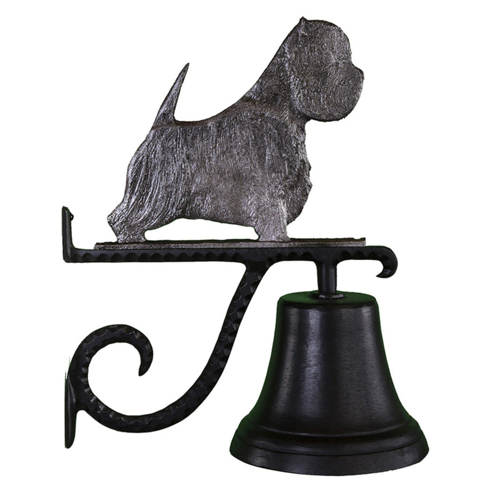 Cast Bell with Swedish Iron West Highland White Terrier