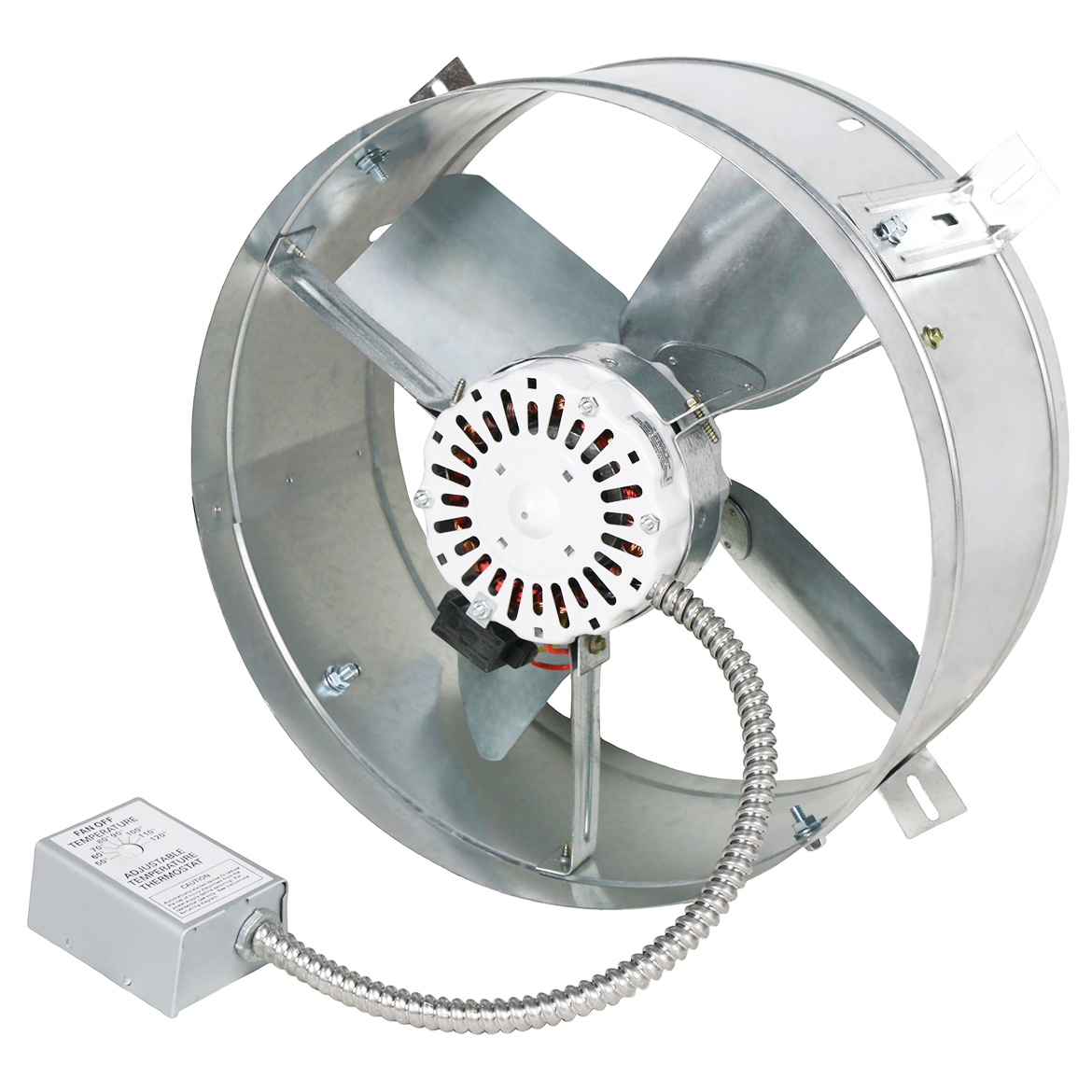 Ventamatic CX1500 1,300-CFM 2.6-Amp Gable Mount Attic Ven...