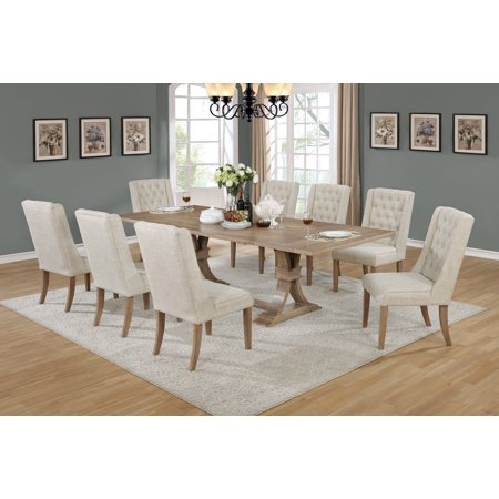 Best Quality Furniture Clasic Style 9pc Dining Set (Best Quality Furniture For The Price)