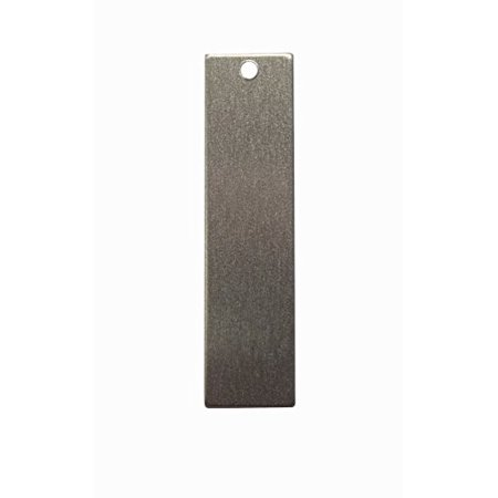 RMP Stamping Blanks, 1/2 Inch x 2 Inch Rectangle With One Hole, Aluminum .063 Inch (14 Gauge) PVC Coating on both sides - 50 -