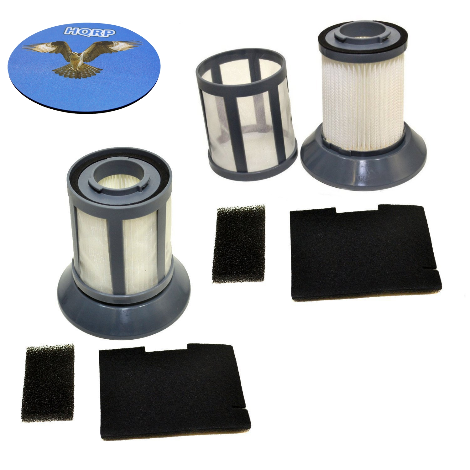 HQRP 2-Pack Dirt Cup Filter Assembly for Bissell 6489 / 64892 Zing Bagless Canister Vacuum Cleaner plus HQRP Coaster