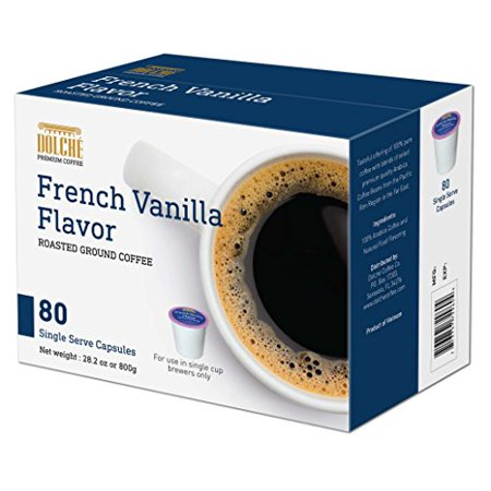 Dolche Coffee 80 Count K Cups (French Vanilla) ()