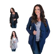 Agiato Women's Fleece Lined Jacket Cardigan 3-Pack