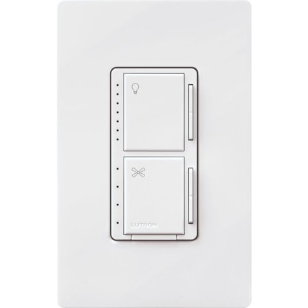 Lutron Maestro White Dimmer & Fan Control Switch MACL-LFQH-WH White Control Switch