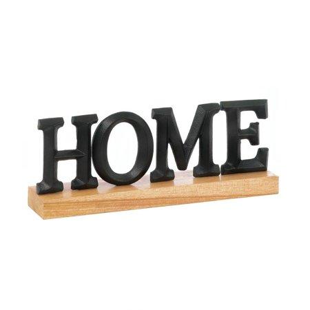 Home Decor Letters, Black Rustic Home Block Alphabet Metal Letter Decorations