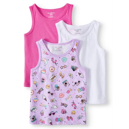 Oneill Kids Tank Top (Solid and Printed Tank Tops, 3pc Multi-Pack (Toddler)