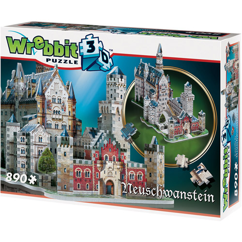 Neuschwanstein Castle 3D Puzzle: 890 Pieces by Wrebbit