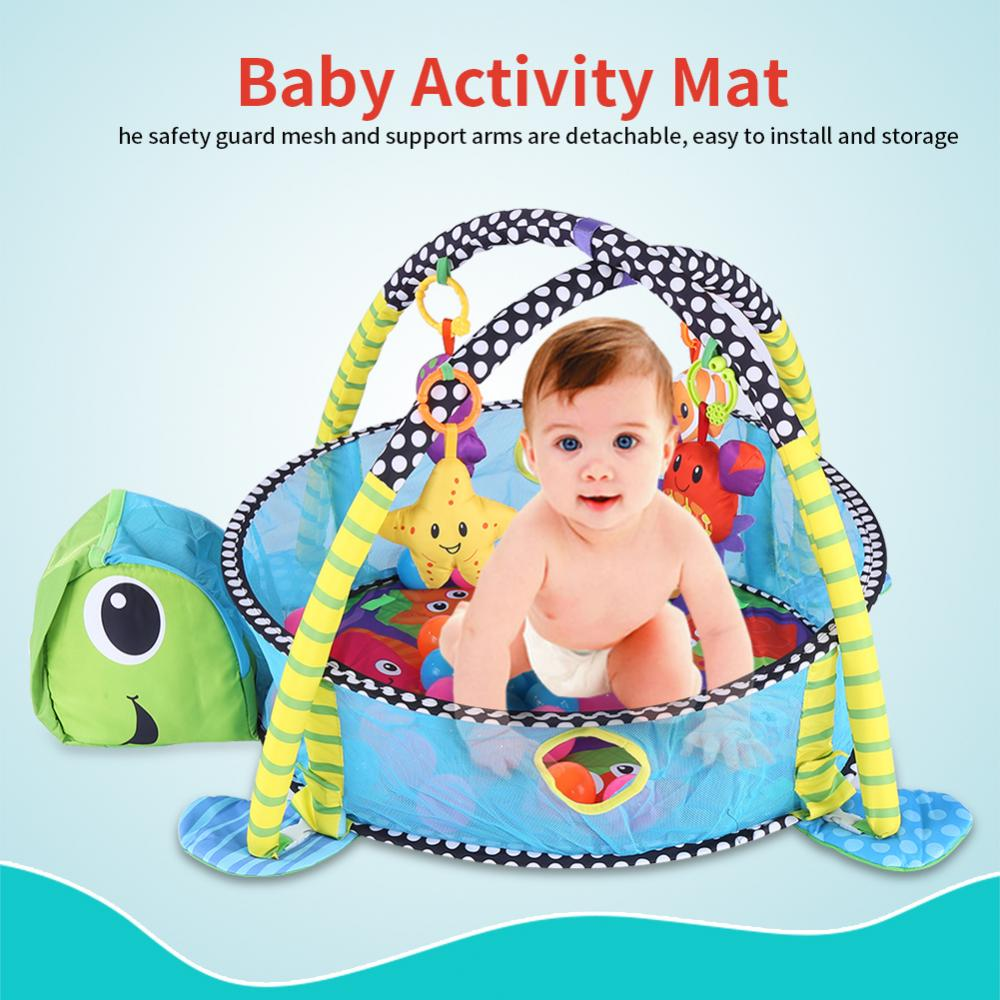 Turtle Baby Gym 3 in 1 Activity Play Floor Mat Ball Pit /& Toys Babies Playmat