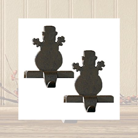 Iron Snowman Stocking Hanger - Set of 2