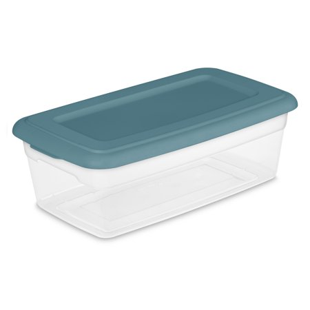 Sterilite, 6 Qt./5.7 L Storage Boxes, Cool Water, Set of