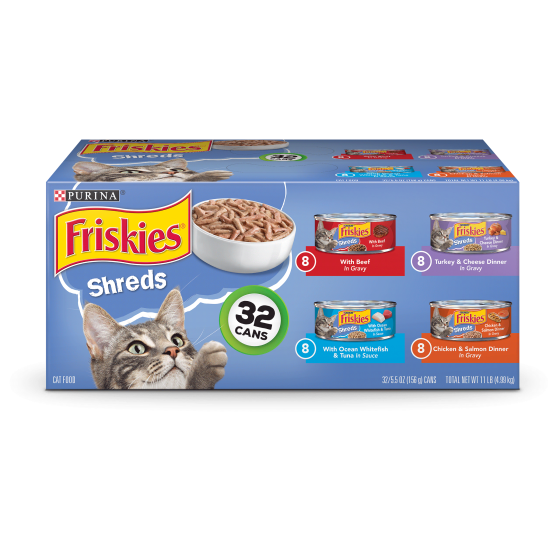Friskies Savory Shreds Adult Wet Cat Food Variety Pack 32 55 Oz