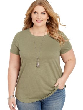 8b313ce46 Sold & shipped by maurices. Product Image Plus Size 24/7 Solid Crew Neck Tee