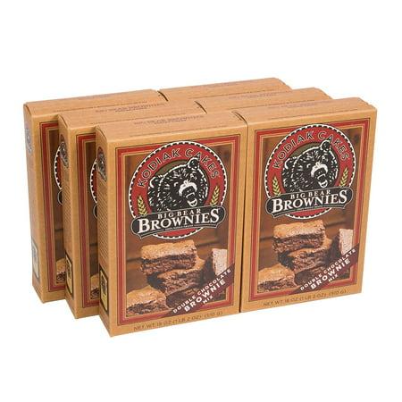 Big Bear Brownie Mix, Double Chocolate Chunk, 18 Ounce (Pack of 6) Kodiak (Big Room Mix)