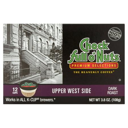 Chock Full Onuts Upper West Side Dark Roast Coffee  12 Count Cups