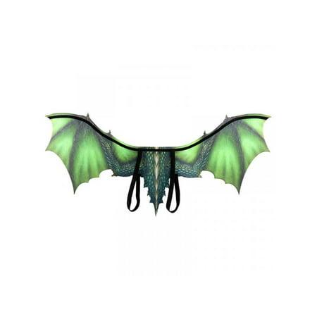 Black Halloween Fairy Wings (Topumt Halloween 3D Dragon Wing Mardi Gras Dragon Costume Cosplay)