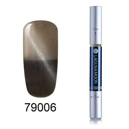 Lagunamoon Magic 3D Cat Eye Effect Gel Nail Polish Pen Soak Off Nail Art Shiny Thermal Color Changing Manicure Long Lasting Nails Arts Pens -