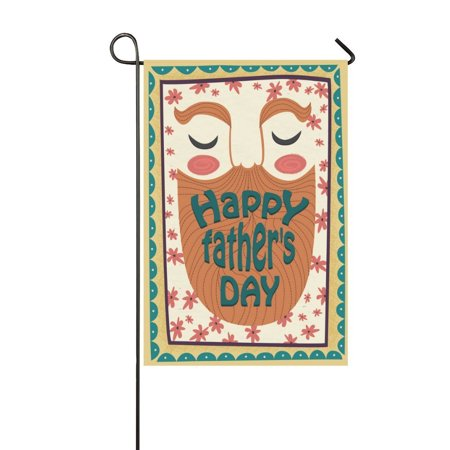 MYPOP Happy Father's Day Garden Flag House Banner 12 x 18 (Father's Day Banner)