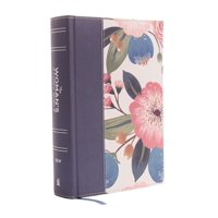 NIV, the Woman's Study Bible, Cloth Over Board, Blue Floral, Full-Color: Receiving God's Truth for Balance, Hope, and Transformation (Hardcover)