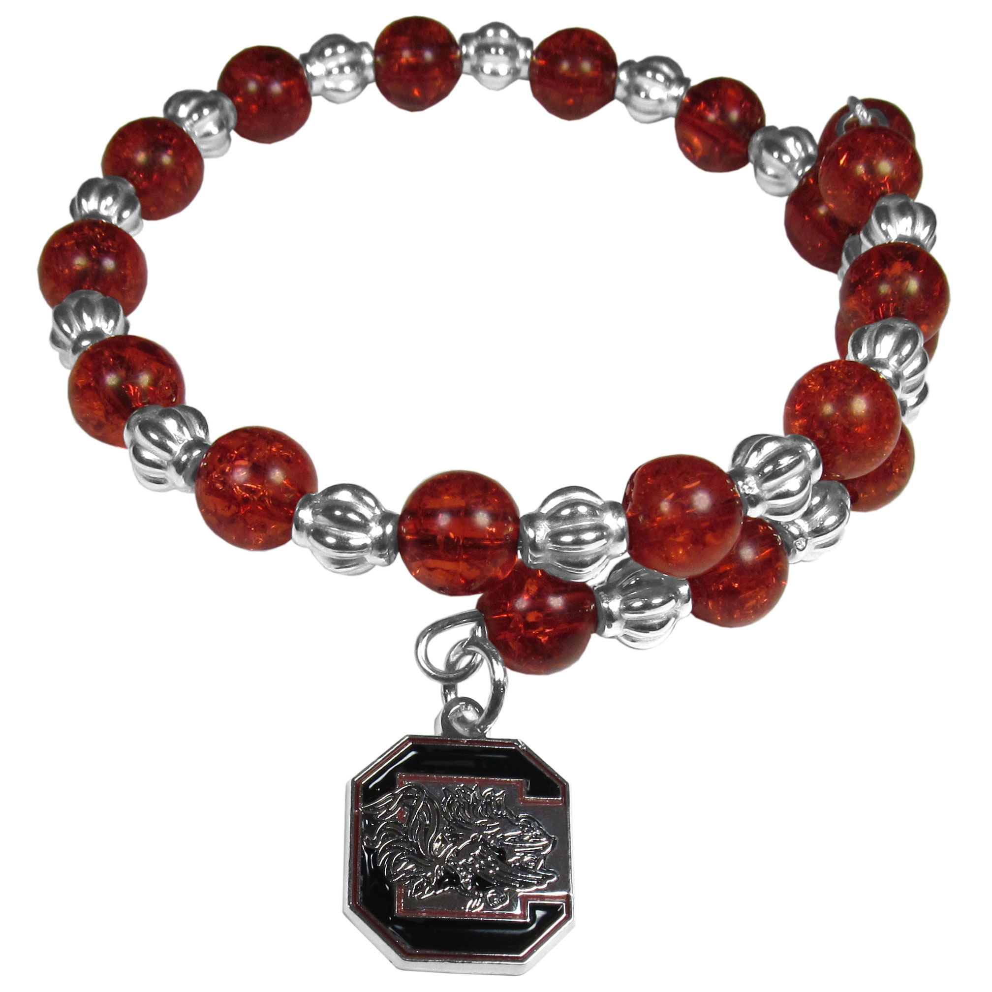 NCAA South Carolina Gamecocks Snowflake Bracelet