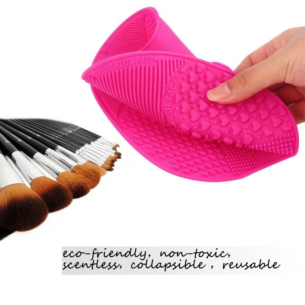 e0dfcf4eb1ee Makeup Brush Cleaning Mat, ESARORA Makeup Brush Cleaner Pad Set of 2 ...