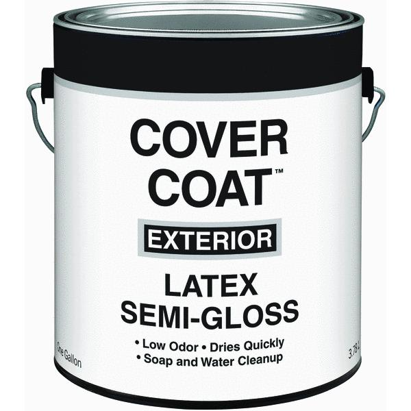 Cover Coat Latex Semi-Gloss Exterior House Paint