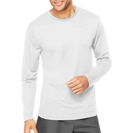 Hanes Men's Long Sleeve CoolDRI Performance T-Shirt - White S